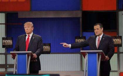 Trump y Cruz cruzan acusaciones en el debate de aspirantes republicanos a la Casa Blanca