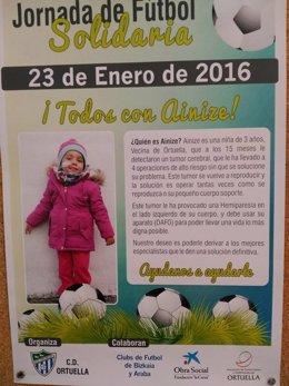 Cartel de la Jornada de Fútbol Solidaria