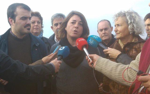 La portavoz de IULV-CA adjunta en el Parlamento, Elena Cortés, en Huelva.