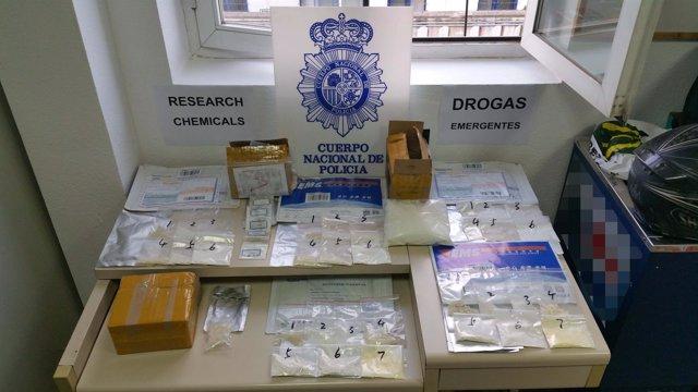 Droga incautada en una operación internacional con Rusia