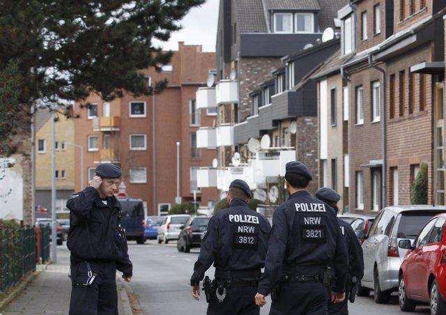 Operación de la Policía alemana en Aquisgrán