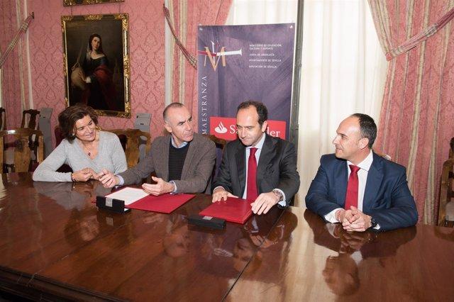 Grupo Santander y Teatro Maestranza firman convenio de patrocinio
