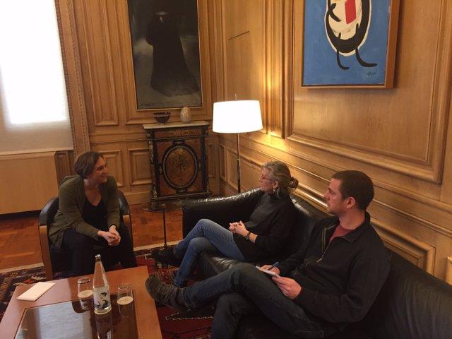 Reunión entre la alcaldesa Ada Colau y la CUP Capgirem Barcelona