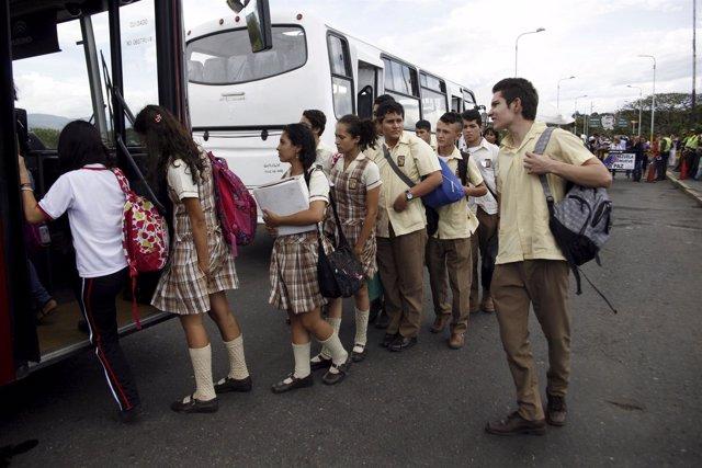Estudiantes venezolanos en Táchira