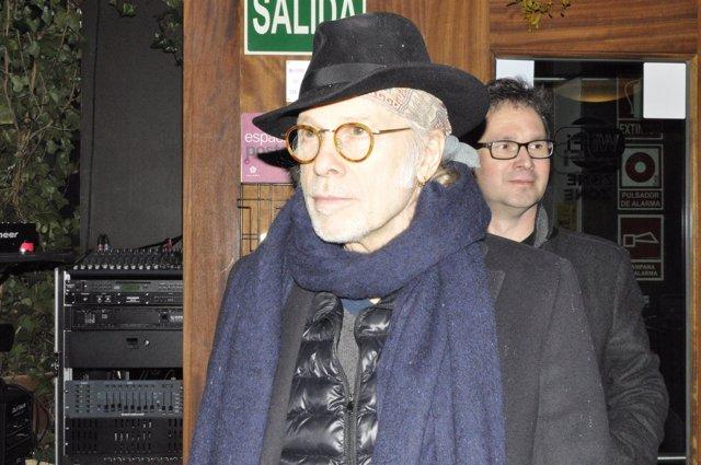El músico Elliott Murphy y su guitarrista, Olivier Durand, visitan Zaragoza.