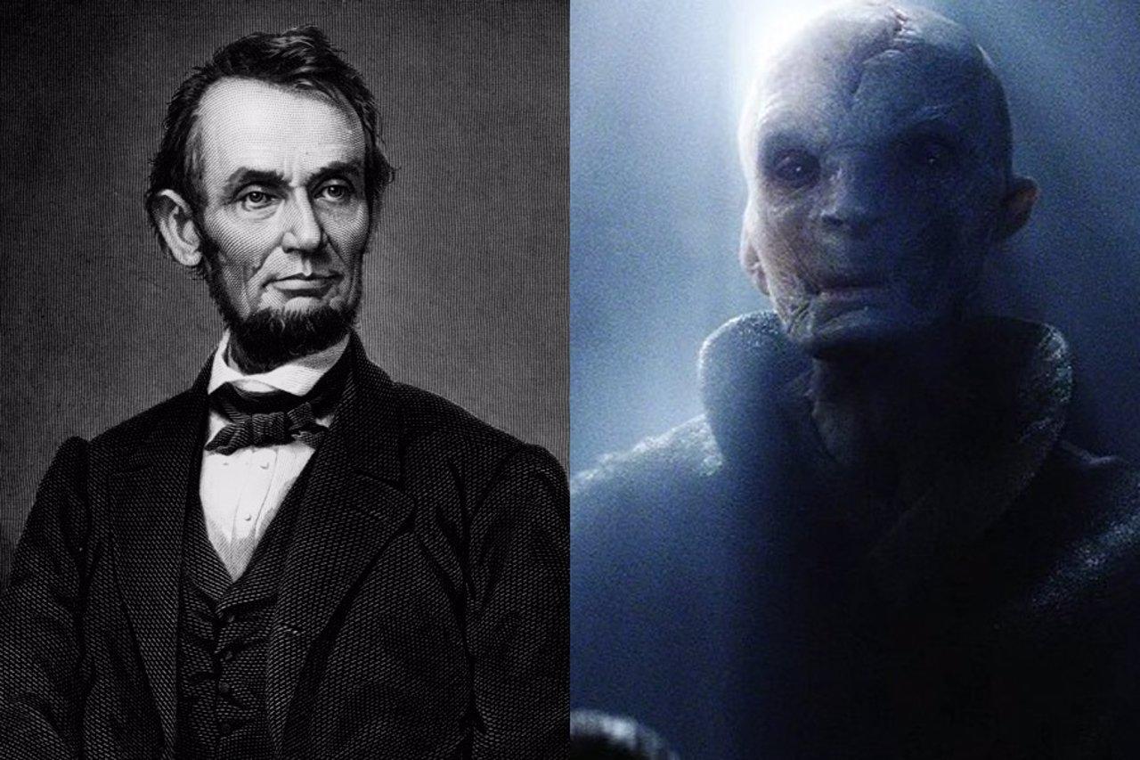 Abraham Lincoln y Líder Supremo Snoke