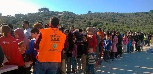 Remar ONGD atendiendo a refugiados