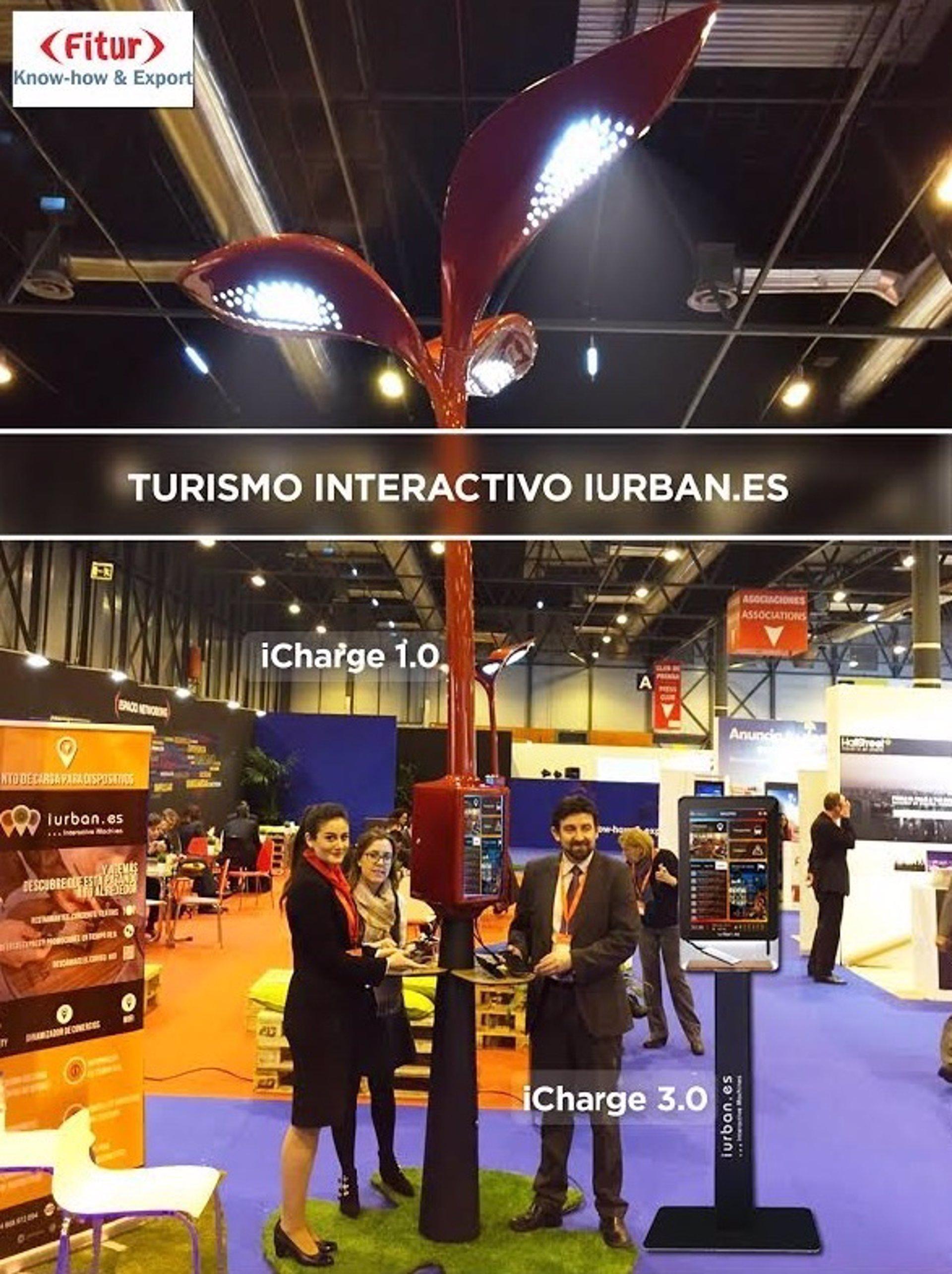 iUrban.es presenta sus pantallas interactivas con información turística y carga de móviles
