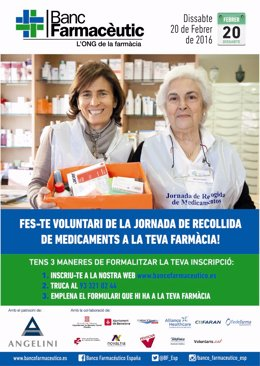 Cartel de la jornada de recogida de medicamentos de Banco Farmacéutico