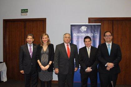 Aeroméxico aumentará frecuencias a Madrid y Londres y lanzará a Ámsterdam en mayo
