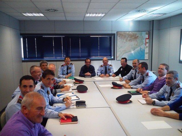 Reunión de Unió de Pagesos y los Mossos d'Esquadra en Lleida