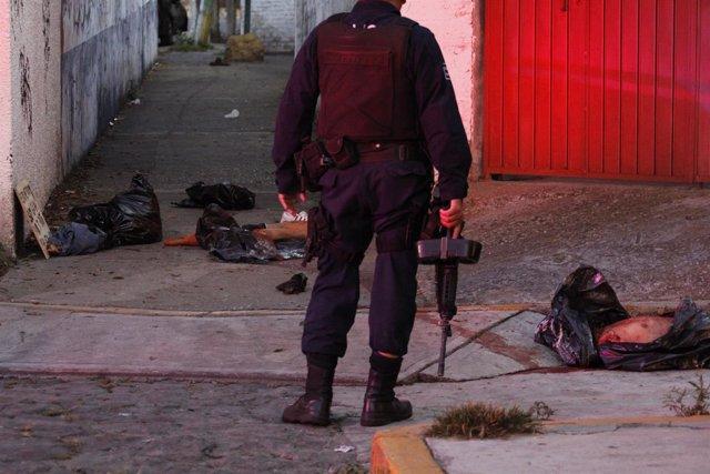 Crimen cometido por Guerreros Unidos, México