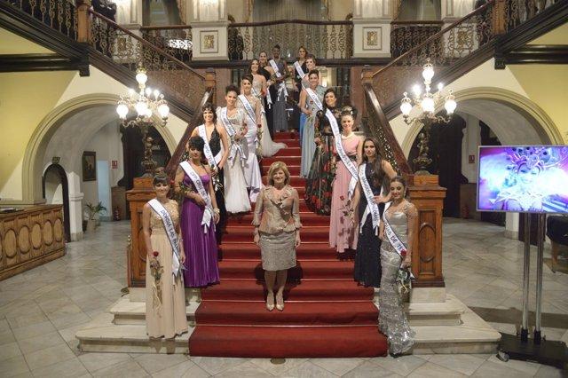 Candidatas a reina del Carnaval de Las Palmas de Gran Canaria