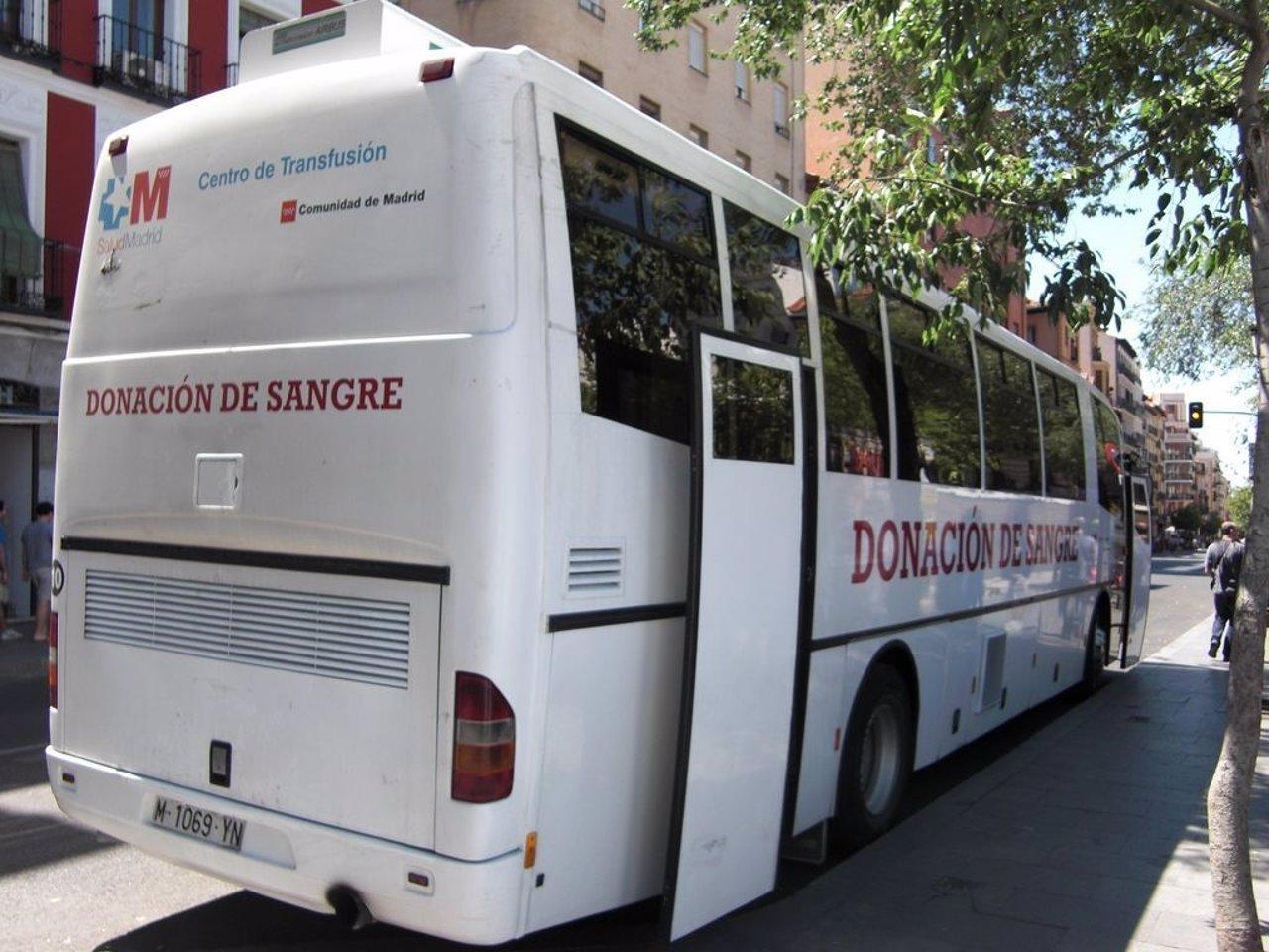 Unidad de donación de sangre en la Comunidad de Madrid