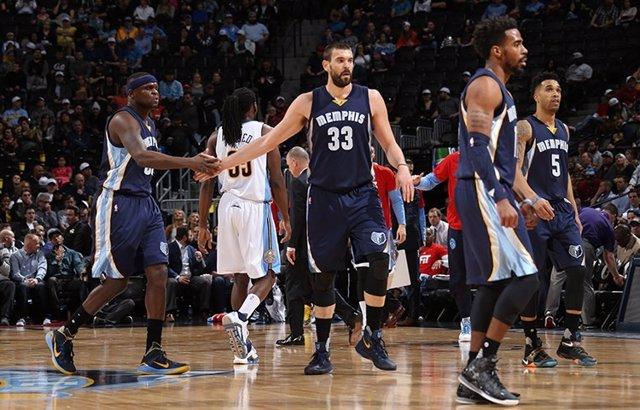 Marc Gasol en el Memphis Grizzlies - Denver Nuggets