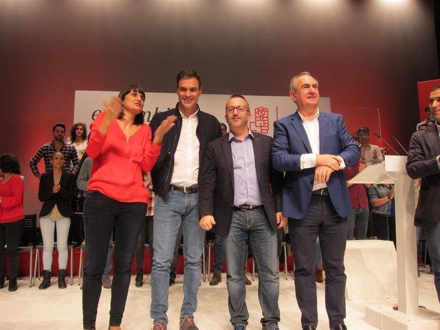 María González Veracruz, Pedro Sánchez y Rafael González Tovar