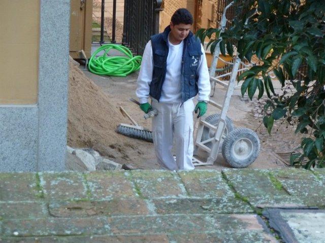 Trabajador, inmigrante, construccion, obras