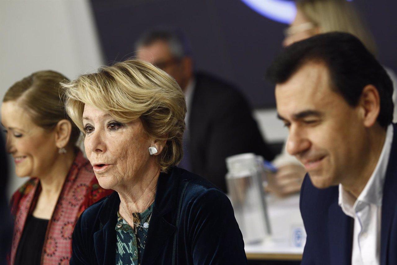 Cristina Cifuentes, Esperanza Aguirre y Fernando Martínez Maíllo