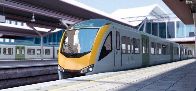 Tren que CAF suministrará a Reino Unido