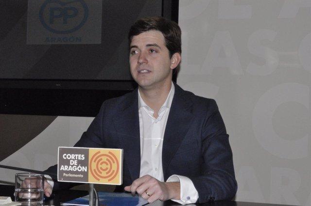 El diputado del PP, Ramón Celma, este viernes en las Cortes