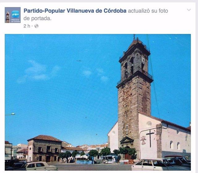 Imagen de portada del Facebook del PP jarote, ya retirada