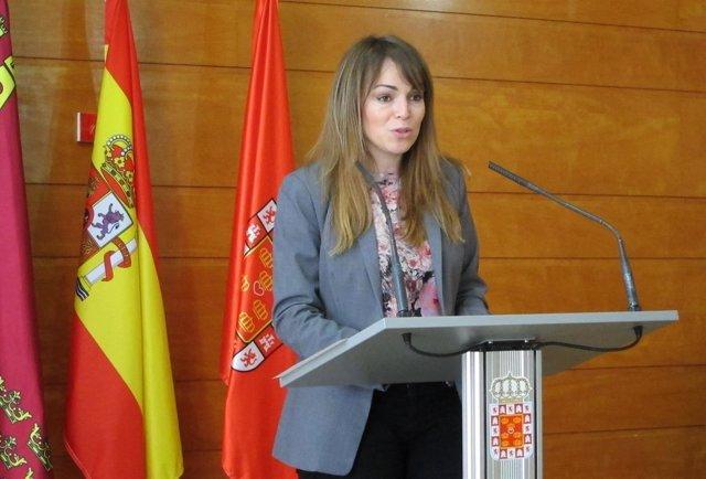 Rebeca Pérez en la rueda de prensa de la Junta de Gobierno