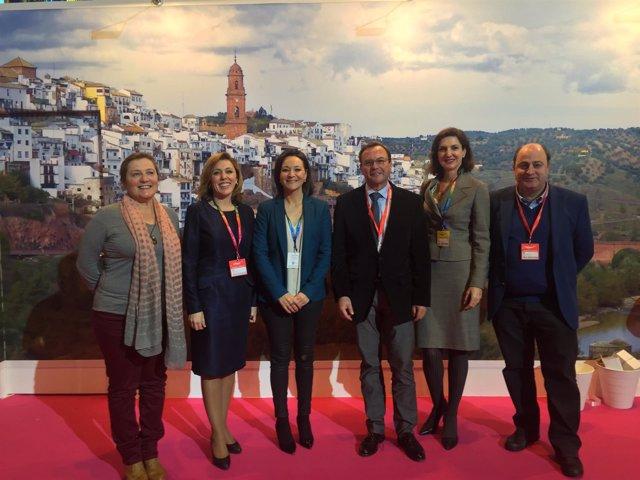 Crespín con alcaldes del Valle del Guadalquivir