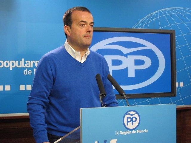 El portavoz del PP regional, Javier Iniesta