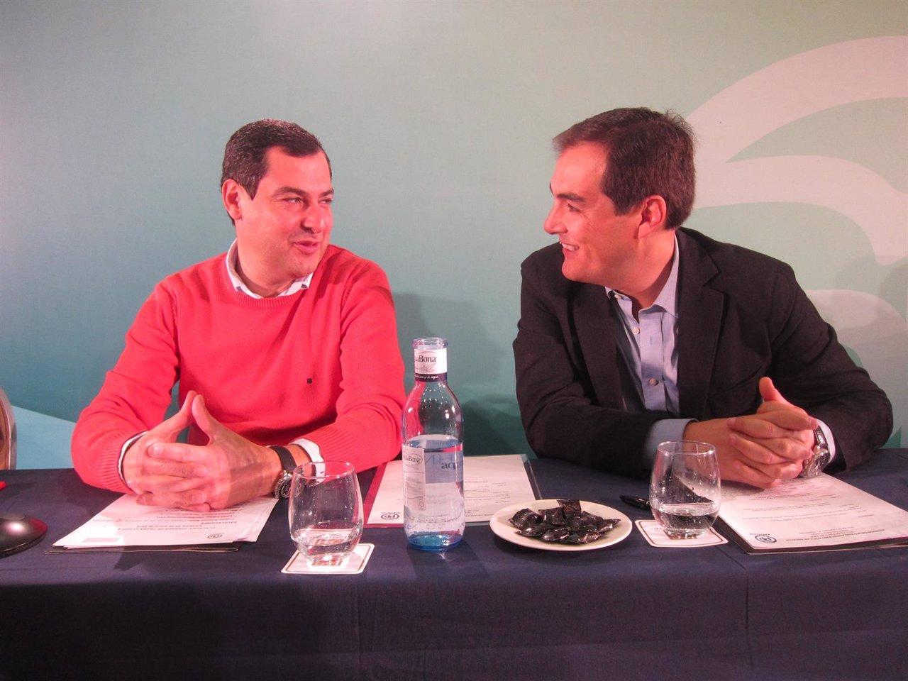 Juanma Moreno y José Antonio Nieto