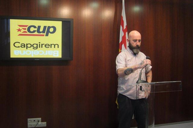 El concejal de CUP Capgirem en Barcelona Josep Garganté
