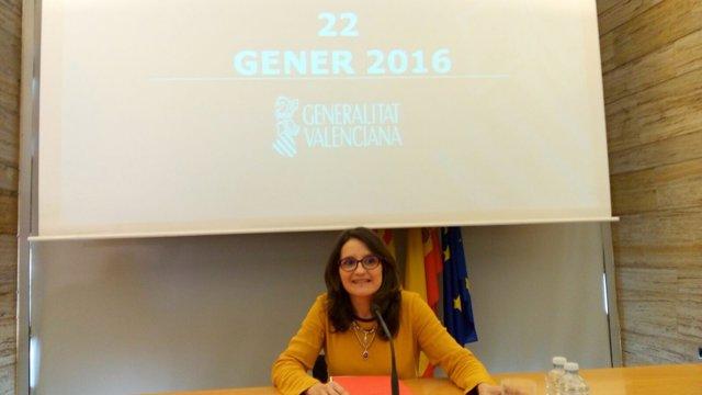 Mònica Oltra este viernes en Alicante
