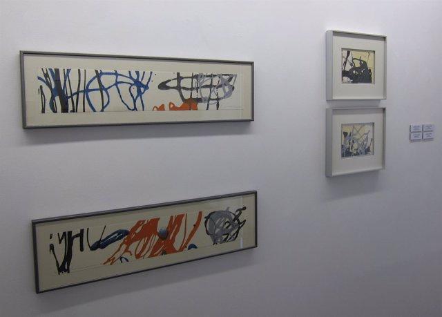 Algunos de los lienzos de la exposición