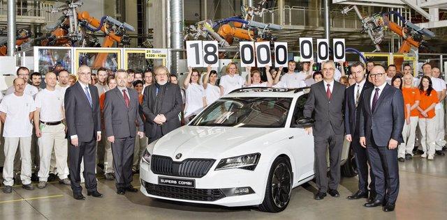 Vehículo 18 millones fabricado por Skoda