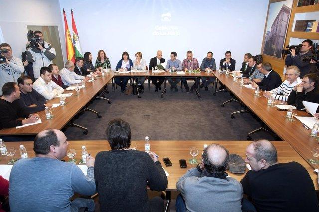 Reunión Gobierno comité empresa de Altadis