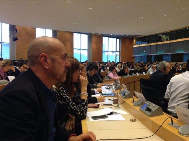Antonio Rivero en reunión de intergrupo de Economía Social de Europarlamento