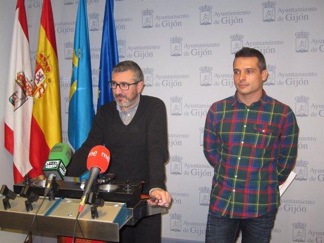 Sarasola y Jiménez en rueda de prensa.