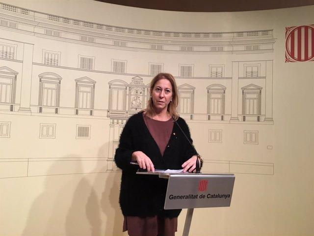La consellera de Presidencia y Portavoz del Govern, Neus Munté