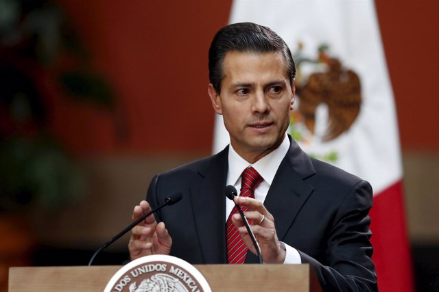 Mexico's President Enrique Pena Nieto speaks during a news conference at the Nat