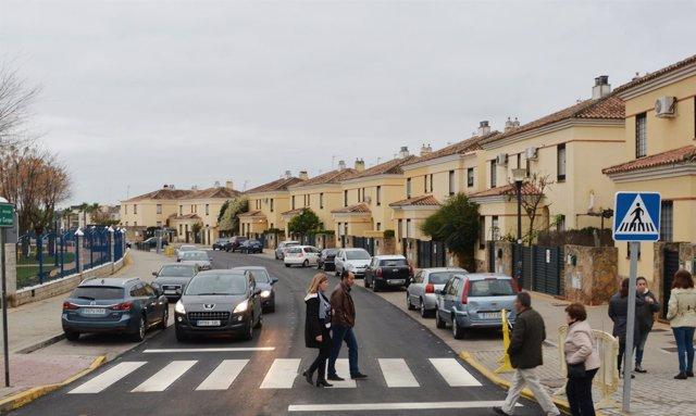 Avenida de Europa reasfaltada