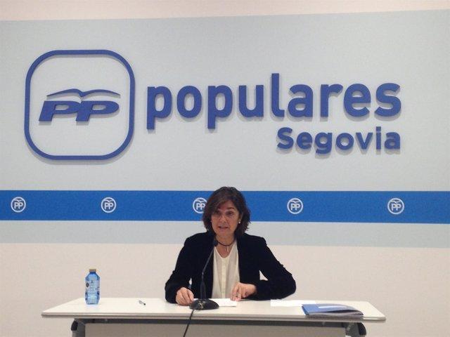 Beatriz Escudero, en rueda de prensa