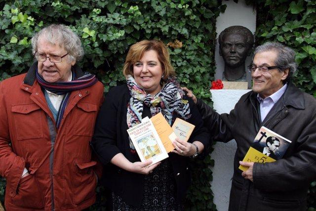 Ian Gibson, Fátima Gómez y Eutimio Martín