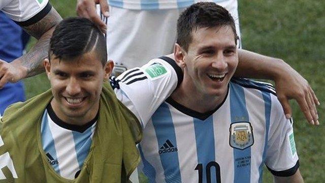 Sergio 'Kun' Agüero y Lionel Messi.