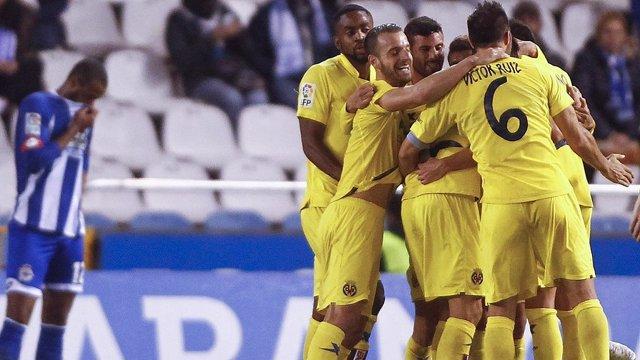 El Villarreal gana al Deportivo