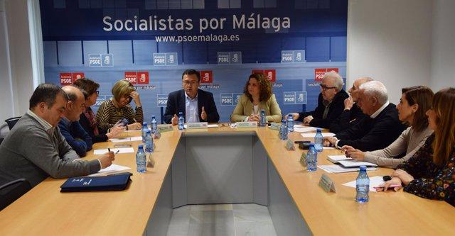 Miguel Angel Heredia en reunión parlamentarios Málaga