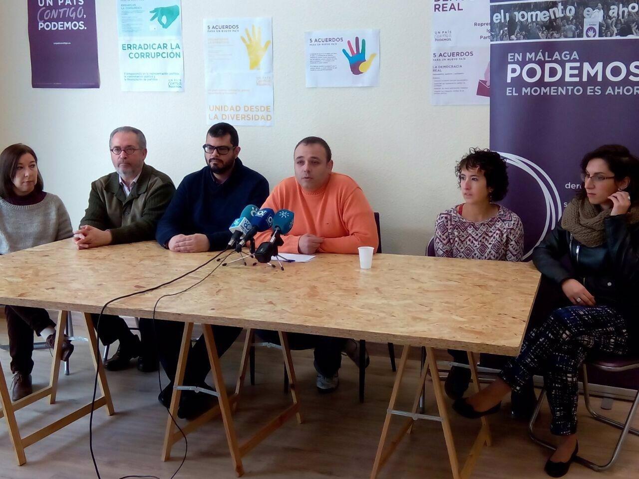 Rueda de prensa de Podemos Málaga