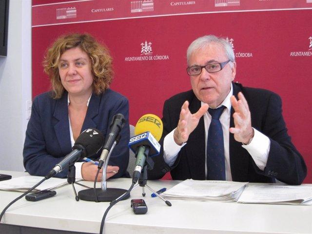 Alba Doblas y Emlio Aumente en la rueda de prensa