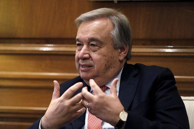 El Alto Comisionado de Naciones Unidas para los Refugiados, António Guterres