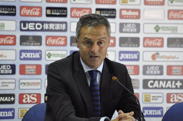 Fran Escribá, en rueda de prensa