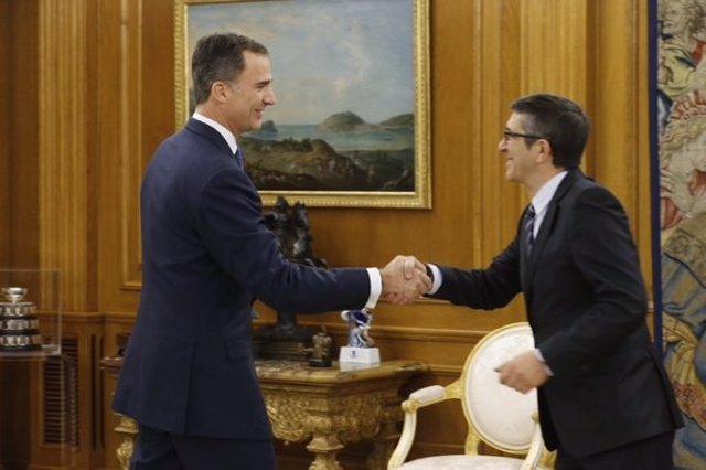 El Rey recibió al Presidente del Congreso de los Diputados, Patxi López