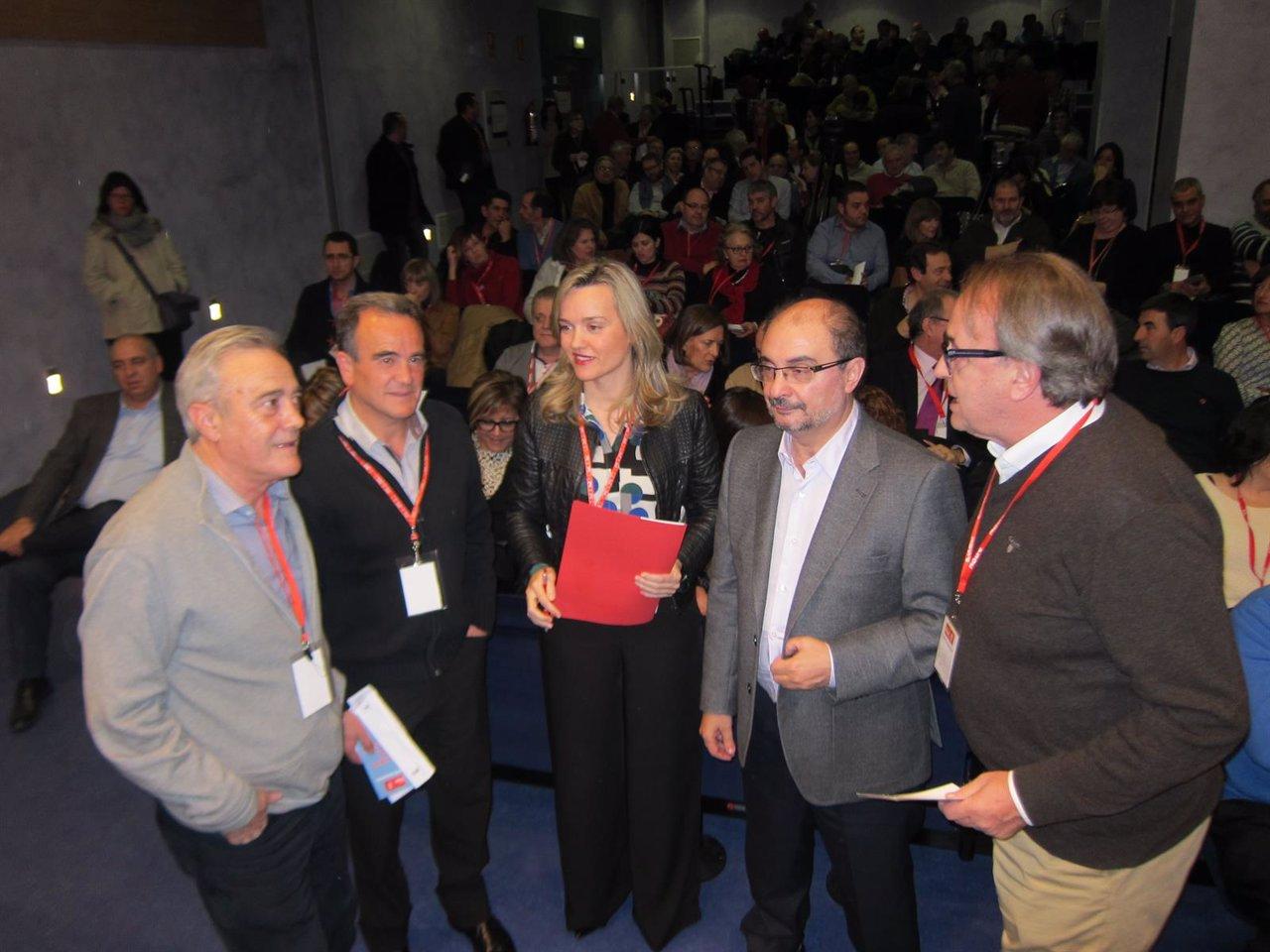 El secretario general del PSOE-Aragón, Javier Lambán, en Comité regional